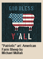 """Patriotic-art--American-Farm-Sheep-by-Michael-Mullan_01"""